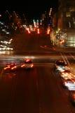 overksam ljus trafik Arkivfoton