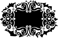 Overladen abstract silhouet Royalty-vrije Stock Foto