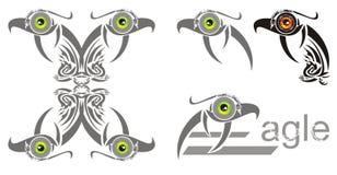 Overladen adelaarssymbolen Stock Fotografie