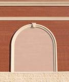 Overladen bakstenen muur met exemplaarruimte. Royalty-vrije Stock Foto