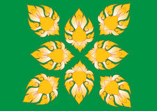 Overladen bloemen eindeloos patroon met bloemen vector illustratie