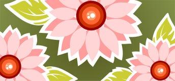 Overladen bloemenachtergrond stock illustratie