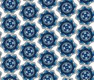 Overladen bloemensneeuwvlokken naadloos patroon Stock Foto