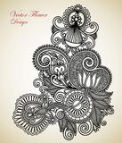 Overladen bloemontwerp royalty-vrije illustratie
