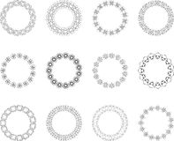 Overladen cirkelontwerpen Stock Foto