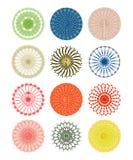 Overladen cirkelpatronen Royalty-vrije Stock Foto's