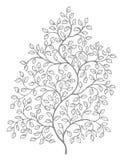 Overladen, elegante krullende wijnstokkenillustratie vector illustratie
