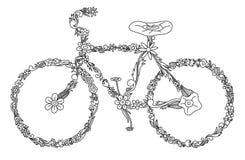 Overladen fiets Stock Foto