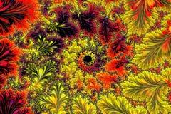 Overladen fractal achtergrond - abstract digitaal geproduceerd beeld Stock Foto