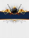 Overladen frame met kanonnen royalty-vrije illustratie