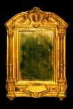 Overladen frame met stoffige spiegel royalty-vrije stock afbeelding