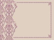 Overladen frame op naadloze damastachtergrond. Royalty-vrije Stock Afbeelding