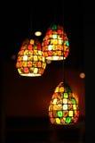 Overladen glaslamp Royalty-vrije Stock Afbeelding