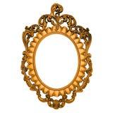 Overladen gouden frame Stock Afbeeldingen