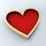 Overladen gouden hart Stock Illustratie
