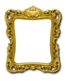Overladen gouden omlijsting tegen wit Royalty-vrije Stock Foto