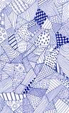 Overladen hand getrokken patroon Stock Foto