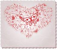 Overladen hart Stock Afbeelding
