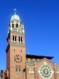 Overladen Kerk royalty-vrije stock fotografie
