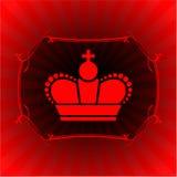 Overladen kroon op gloeiende achtergrond Royalty-vrije Stock Afbeeldingen
