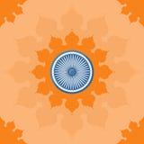 Overladen Mandala Round Pattern op de Open Bloem Royalty-vrije Stock Foto