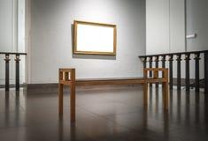 Overladen Modern Art Museum Frame Wall White-Malplaatje Royalty-vrije Stock Foto