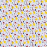 Overladen naadloos patroon. Stock Afbeeldingen
