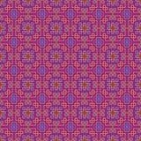 Overladen naadloos patroon, doorweven lijnen Stock Afbeeldingen