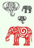 Overladen olifant Stock Foto