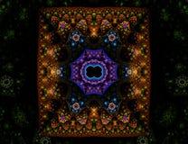 Overladen oosters tapijt vector illustratie