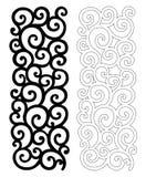 Overladen patroon voor knipsel Stock Foto's