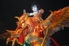 Overladen reusachtig monster ogoh-Ogoh Stock Foto's