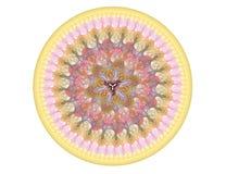 Overladen ronde geometrisch stock afbeeldingen