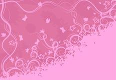 Overladen roze achtergrond stock illustratie
