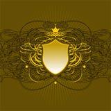Overladen schildachtergrond Royalty-vrije Stock Afbeeldingen