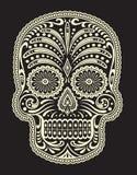 Overladen Sugar Skull stock illustratie