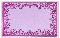 Overladen Uitstekende Decoratieve Kaart stock illustratie