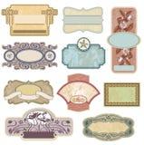 Overladen uitstekende etiketten Royalty-vrije Stock Afbeeldingen