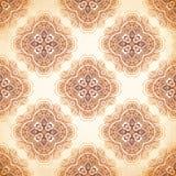 Overladen uitstekende vectorachtergrond in mehndistijl vector illustratie