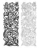 Overladen vector bloemenpatroon Royalty-vrije Stock Afbeeldingen