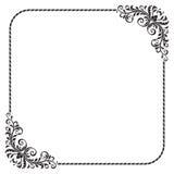 Overladen vierkant zwart kader Royalty-vrije Stock Foto