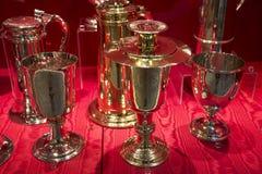 Overladen Zilveren punten in Chester England royalty-vrije stock afbeelding