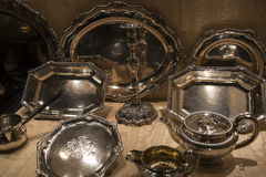 Overladen Zilveren punten in Chester England royalty-vrije stock foto