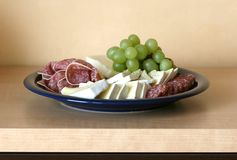 Overlain plate Stock Image
