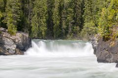 Overlander Falls Mount Robson Provincial Park royalty free stock images