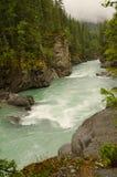 Overlander nedgångar i monteringen Robson Provincial Park Royaltyfria Bilder