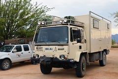Overlanding在纳米比亚,非洲 图库摄影