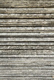 Overlap arrange of Old tile roof texture Stock Images