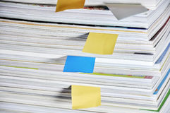 Overlap Books and Note paper Royalty Free Stock Image