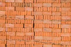 Overlap brick with thorn wire fence Stock Image